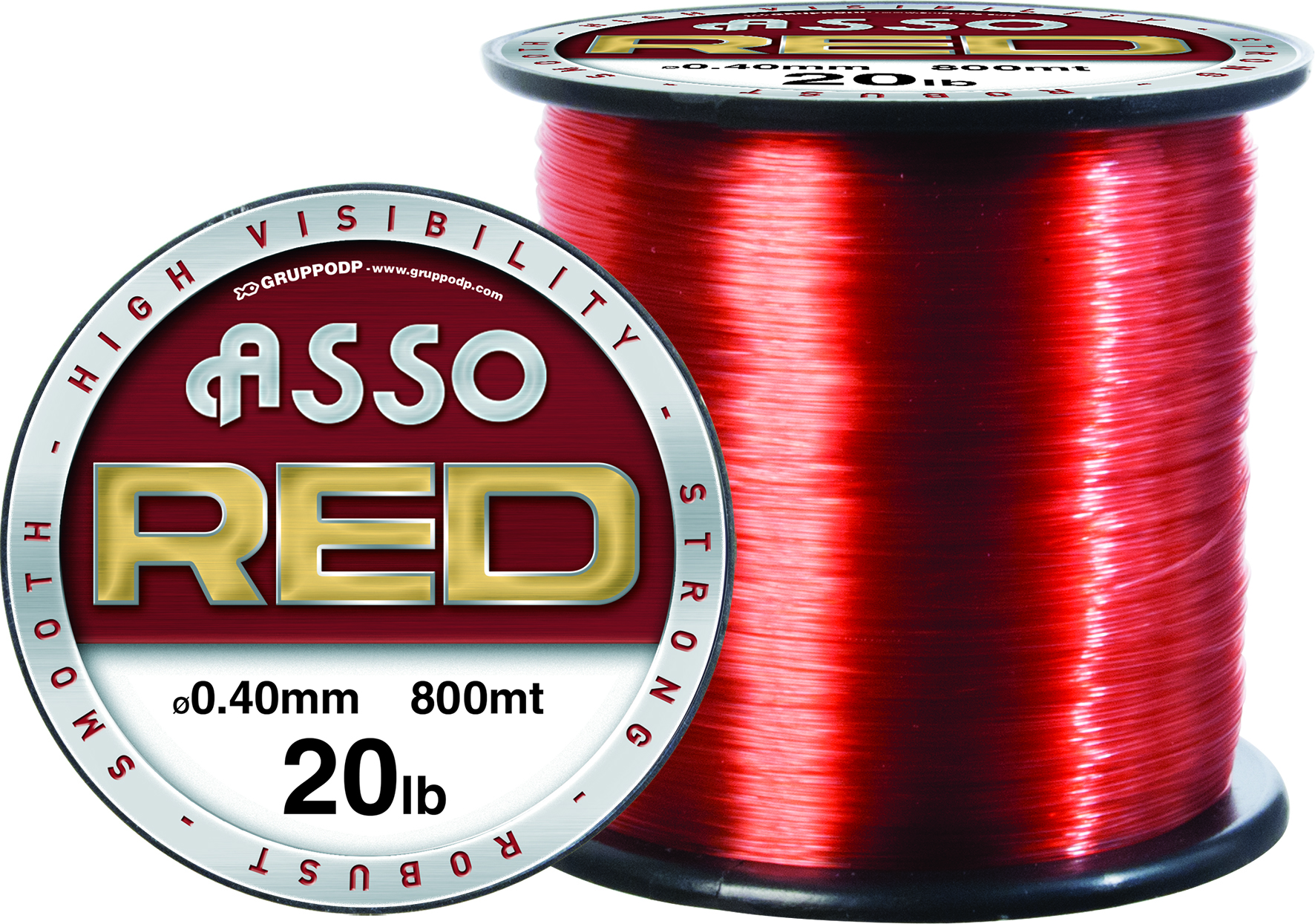 Asso RED Hi Vis Sea fishing line